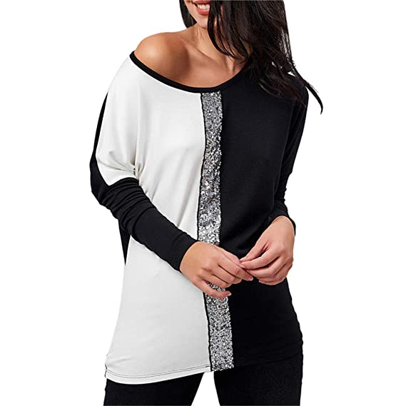 Tefamore Camisa Mujer 2019 Otoño Moda Blusa para Mujer del Ocasionales Camisetas de Manga Larga de