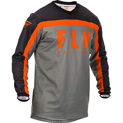 Fly Racing 2020 F-16 Jersey (Small) (Grey/Black/Orange): Automotive