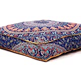 "Handicraft-Palace Large Indian Meditation Floor Pillow Cover 35"" X 35"" Inch Elephant Mandala Ottoman Cushion Dog Bed Outdoor Sofa Day Bed Kids Teen Floor Pillow"