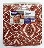Better Homes & Garden Collapsible Fabric Storage Bin/Cube (Brick Wandering Ikat)