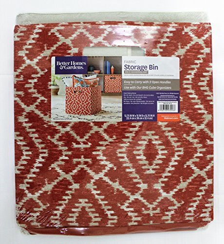 Better Homes & Garden Collapsible Fabric Storage Bin/Cube (Brick Wandering Ikat)