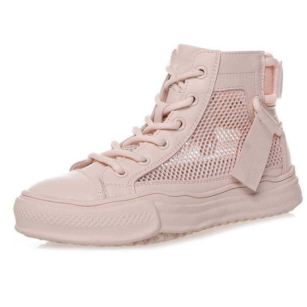 Rose Net chaussures plate-forme chaussures hautes chaussures paniers sauvages chaussures plates Les dames chaussures de sport légères simples chaussures de mode chaussures de marche chaussures de conduite