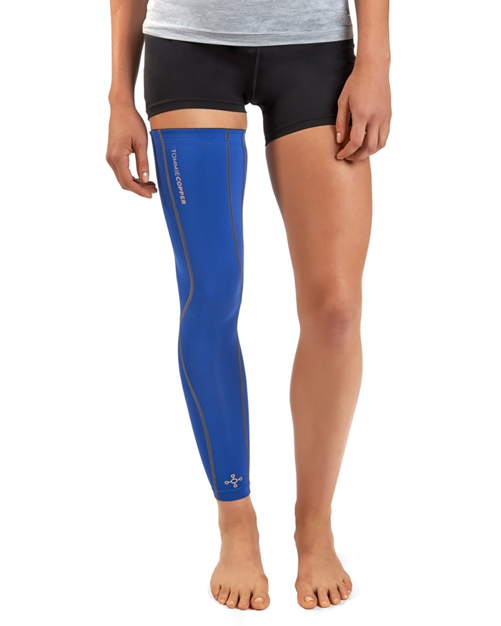 Tommie Copper Women's Performance Full Leg Sleeves 2.0, X-Large, Cobalt Blue