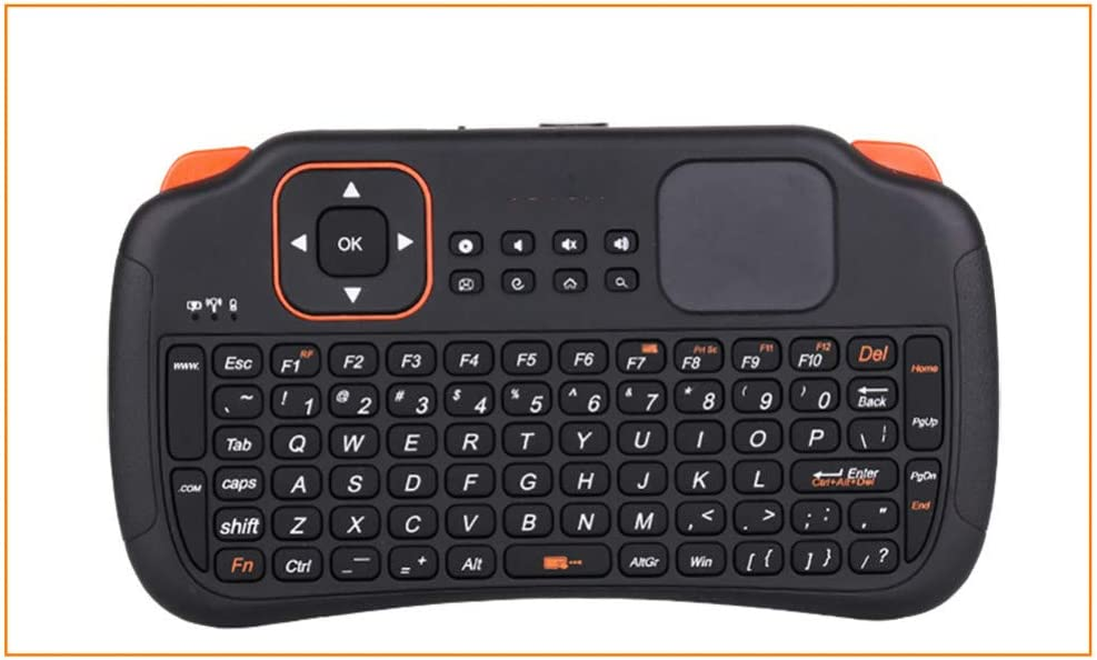 BHGFCGYUH 2.4 GHz Wireless Keyboard Air Mouse Remote Controller with Fouchpad Supports Bilingual Keyboard