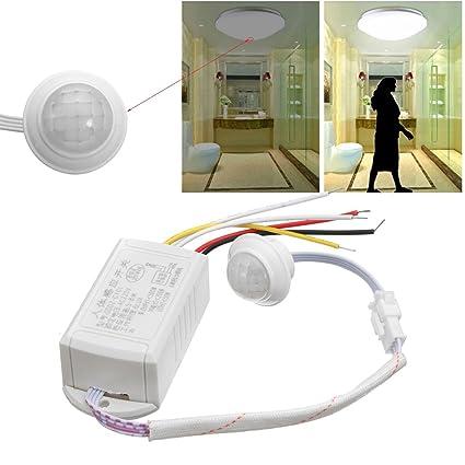 MYAMIA 220V 5-8M IR Cuerpo Infrarrojos Sensor De Movimiento Automático Inteligente Luz Lámpara Interruptor