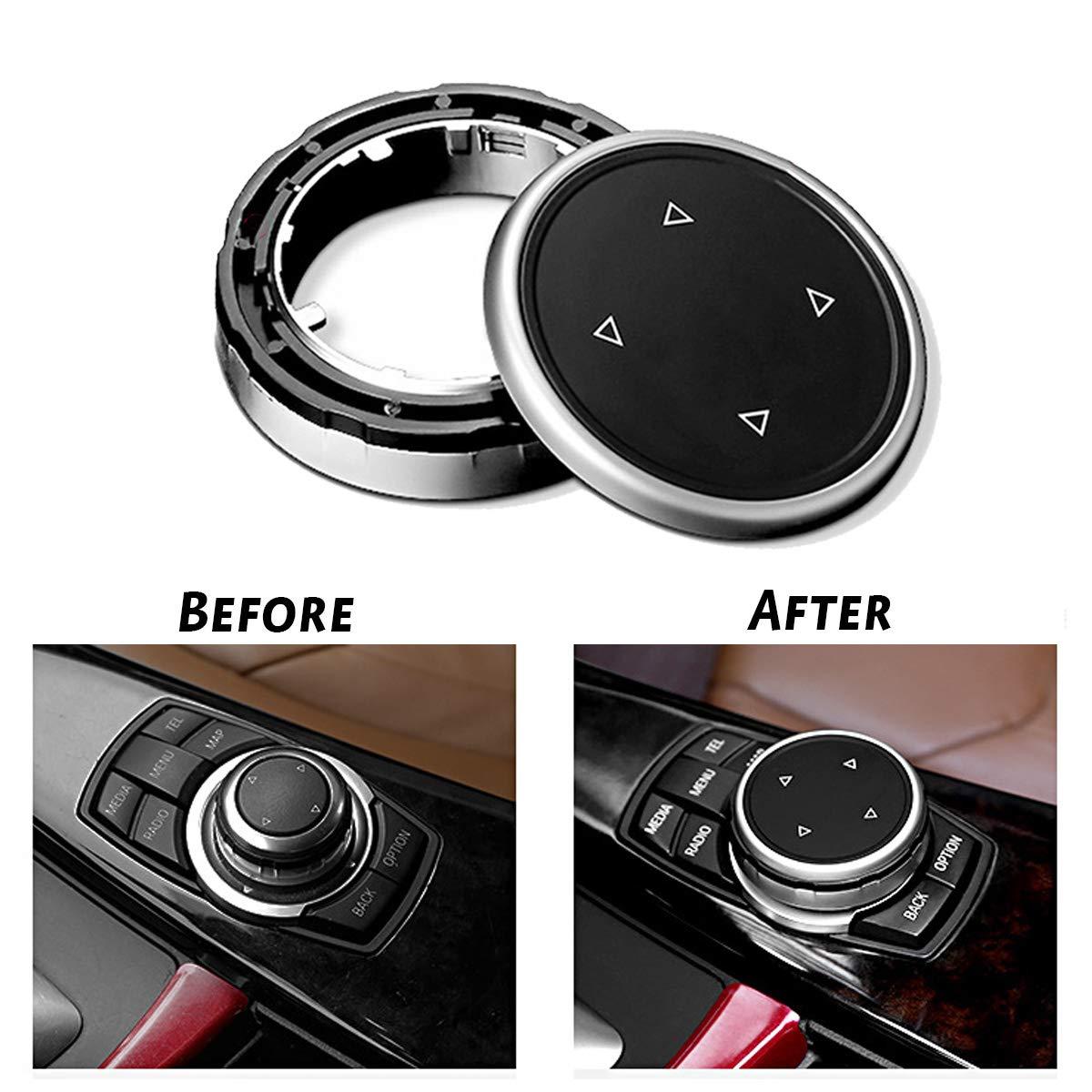 MASO per Vari Tipi di Pulsanti iDrive Cover per Pulsanti multimediali per Auto per X1 X3 X5 X6 X4 e 1 2 3 5 7Series