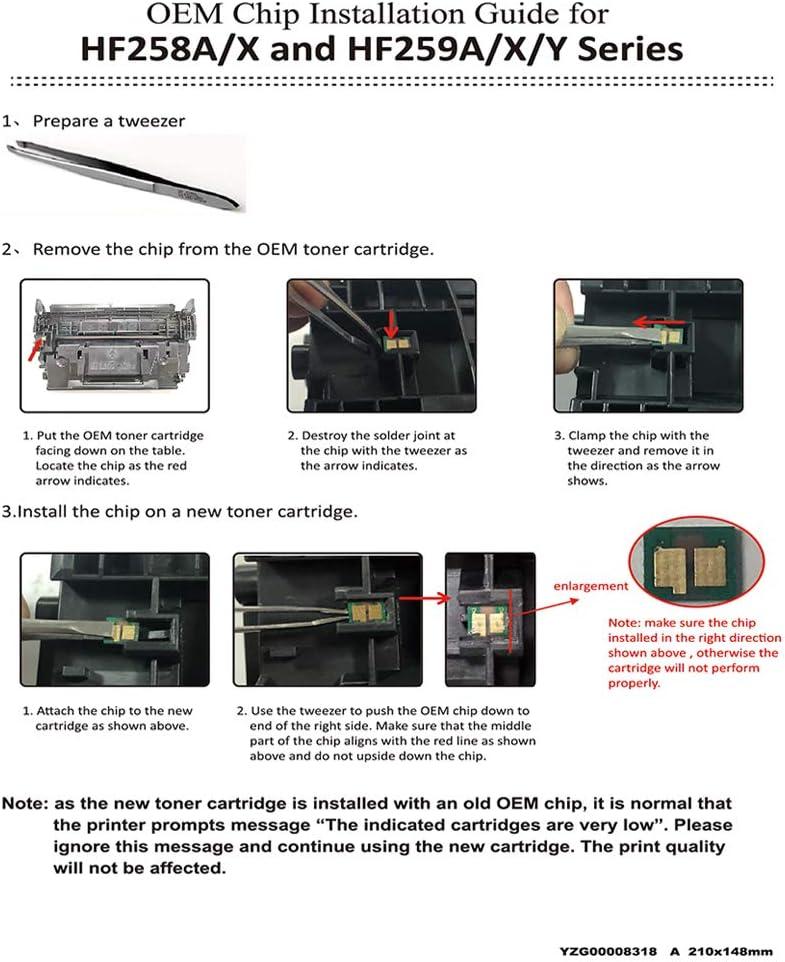 PayForLess Toner Cartridge Compatible for HP 58X CF258X 58A CF258A for HP Laserjet Pro M404 M404n M404dn M404dw MFP M428 M428dw M428fdn M428fdw No Chip