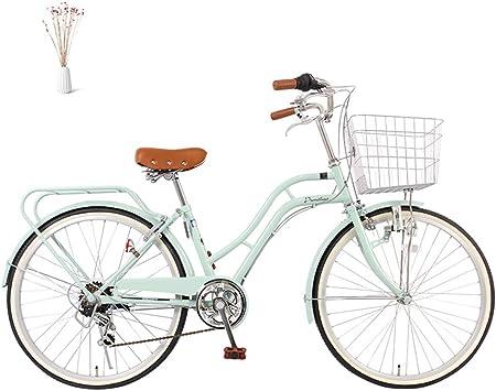 GHH Elegance Bicicleta Urbana 24 Bici de Paseo, 6 Speed Shimano Bicicleta para Mujeres Sillin Confort para Viajes/Trabajo/Compras,Natural: Amazon.es: Deportes y aire libre
