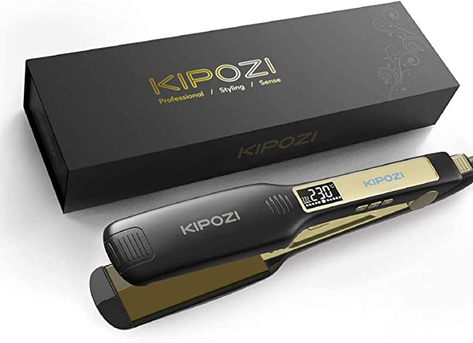 KIPOZI Professional Hair Straighteners - Fantastic Hair Straightener for Long Thick Hair