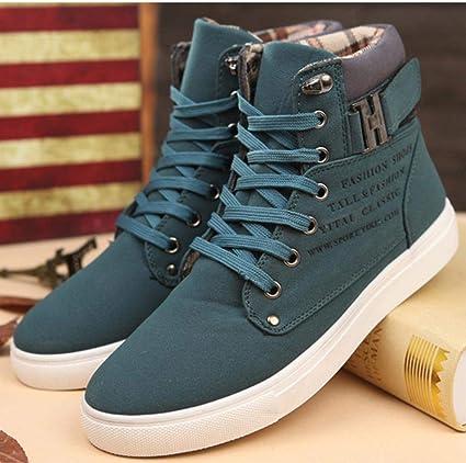 45, Noir chaussures de s/écurit/é hommes Mode Hommes Oxfords Casual Haut Haut Chaussures Sneakers