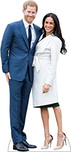H10144 Prince Harry and Meghan Cardboard Cutout Standee Wet Paint Printing + Design