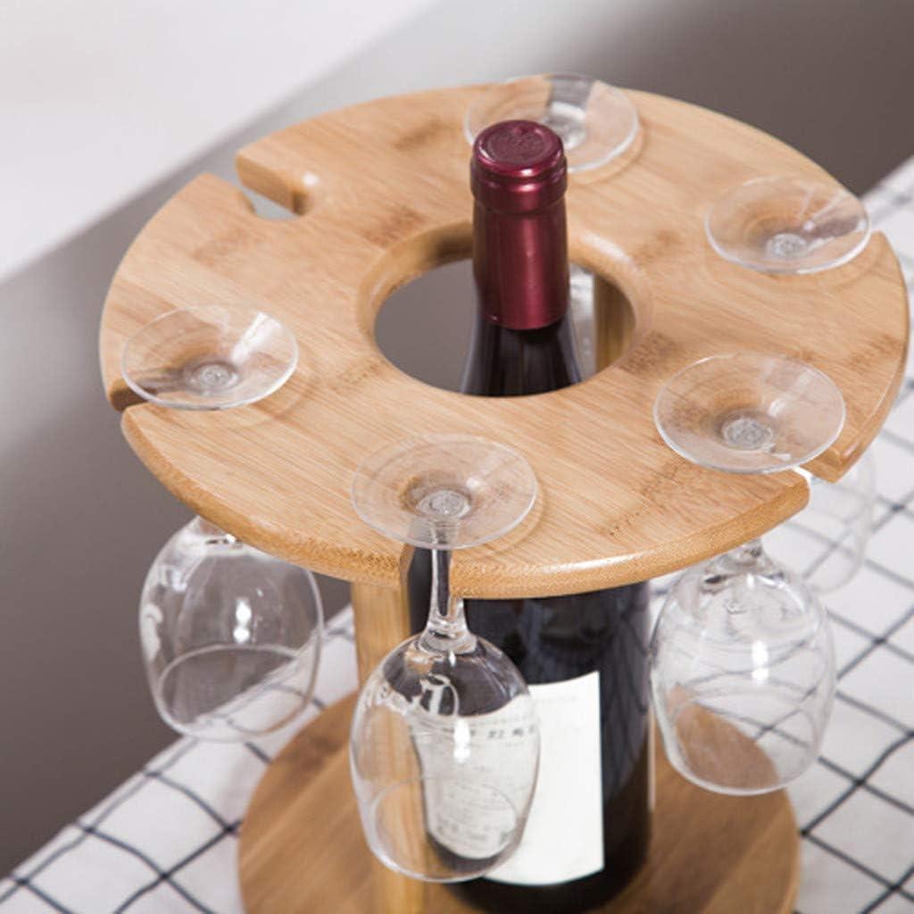 Shan_s - Soporte para Botellas y Copas de Vino, Bandeja ...