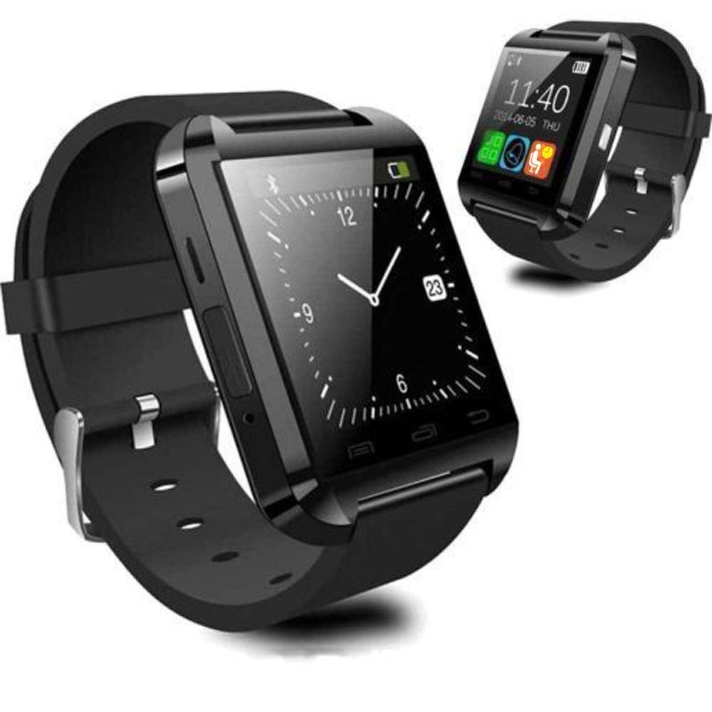 Reloj inteligente U8 de Vada-Tec, con Bluetooth, para Android e IOS, con podómetro, captura de fotografías, cronómetro, reloj de pulsera inteligente, ...