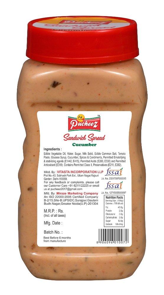 Pucheez Sandwich Spread Cucumber, 300 g: Amazon in: Grocery