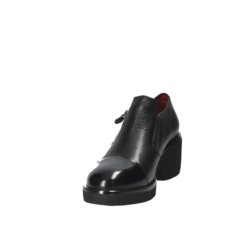 STONEFLY Lederschuhe 109382 schwarze Frau mit hohen Absätzen Scharniere Lederschuhe STONEFLY Nero cf34e1