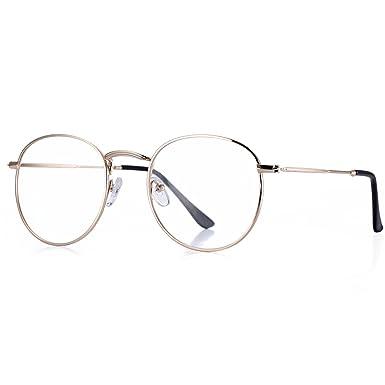 d08b07dada2d Super Light-weight Round Gold Frame Glasses Original Clear Lens Glasses  Retro Circling Frame Women