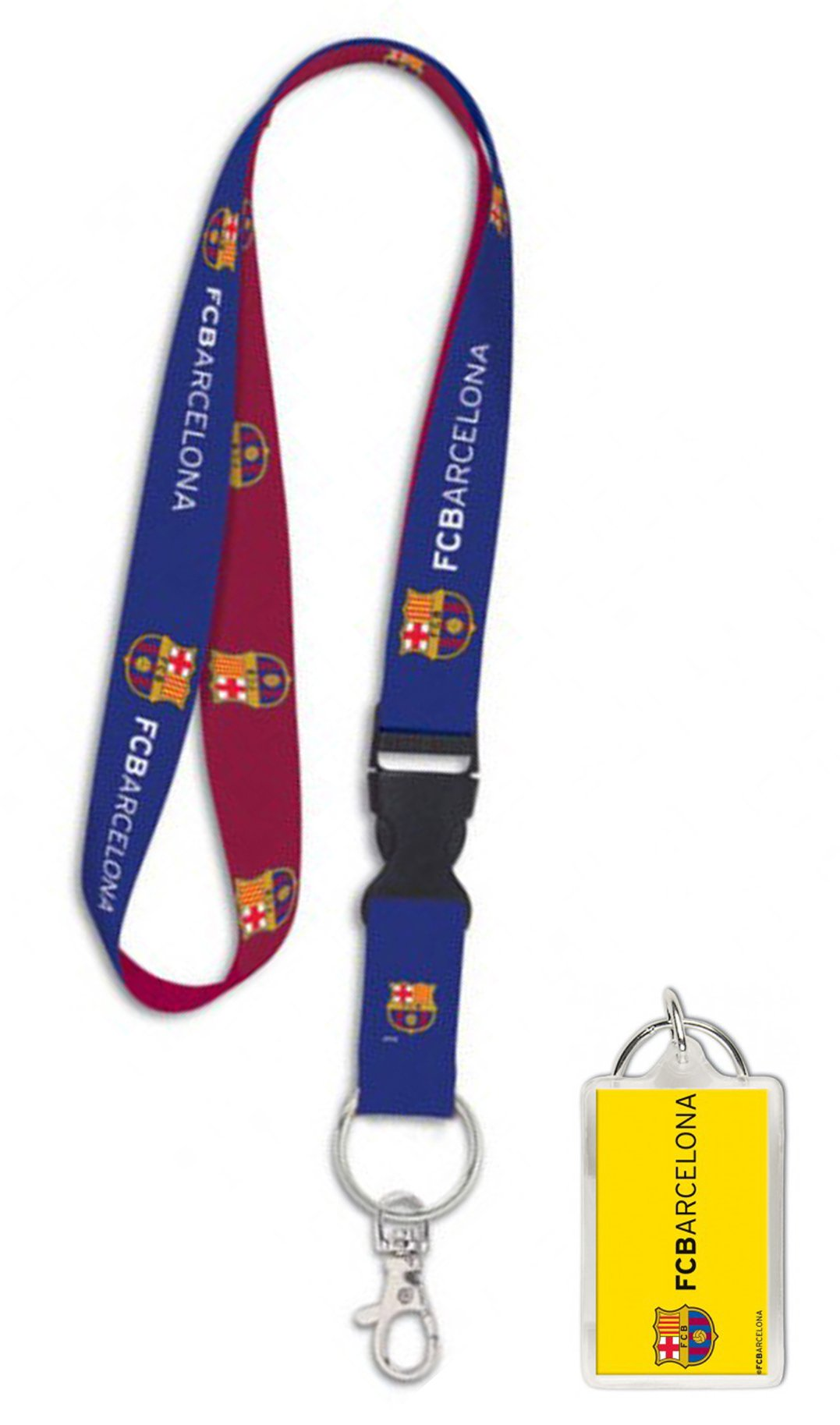 FC Barcelona Premium Lanyard Key Chain and Key Ring Gift Set