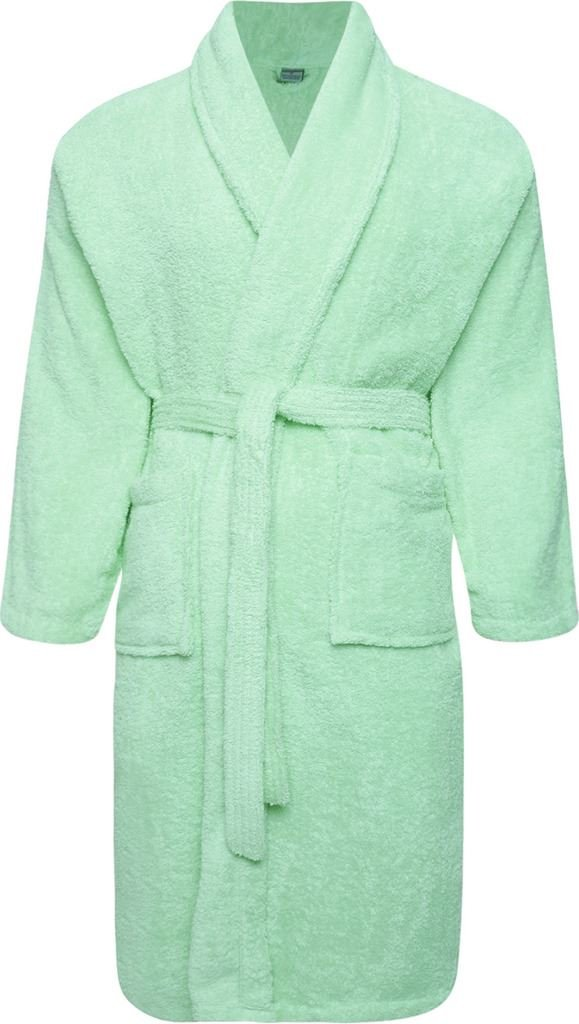 Adore Home 100% Cotton Terry Towelling Shawl Collar Duck Egg Bathrobe Dressing Gown
