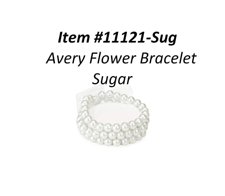 badd95b565 Fitz Design Flower Bracelet Beaded Corsage Bracelet