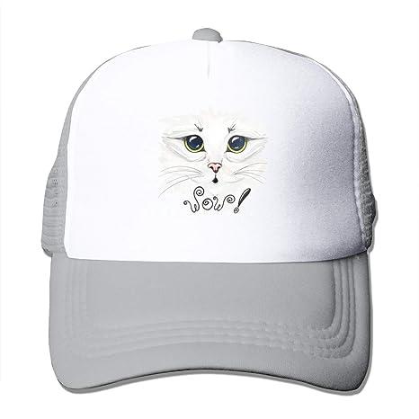 Bgejkos Hermosa Gorra Blanca con Forma de Gato y Gorra Snapback ...