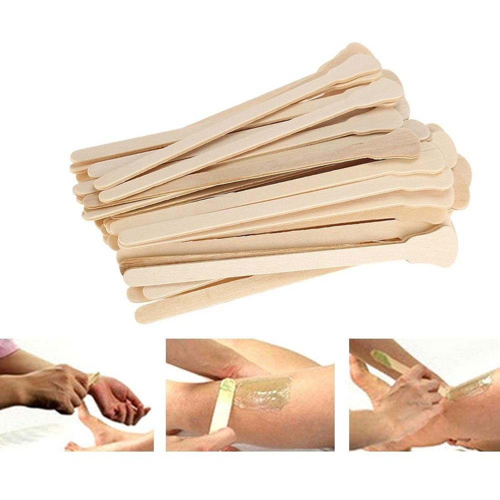 Large Wide Wood Wax Spatula Applicator Disposable Facial Mask Hair Remove Cream Tool 50pcs