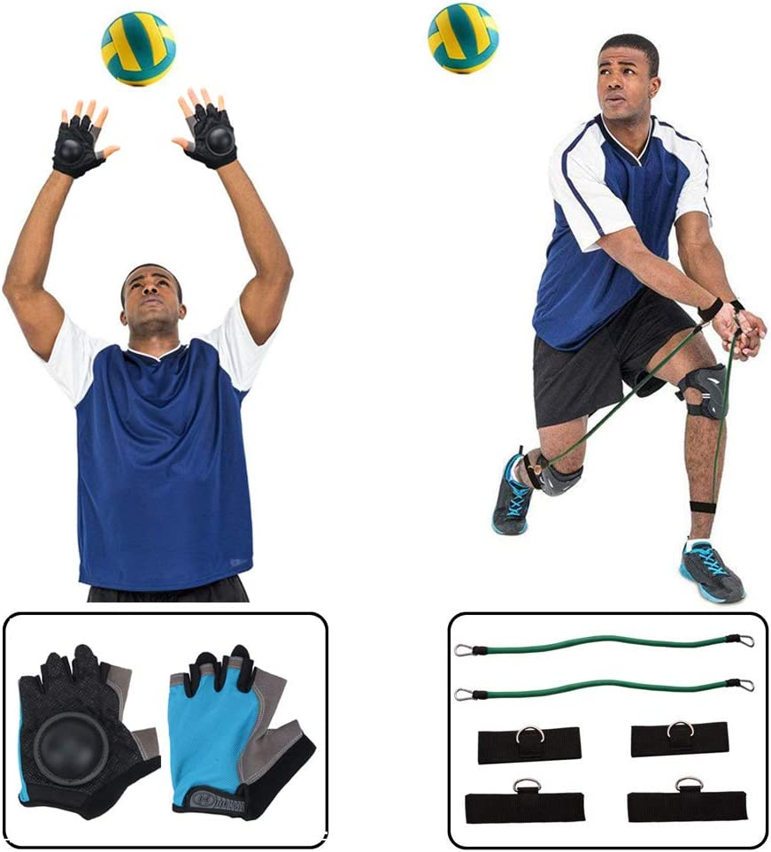 HoDrme 2 Sets of Volleyball Training Aid-Volleyball Rebounder & Resistance Band-Great Trainer for Solo Practice of Serving Tosses, Arm Swings and Passing Technique : Sports & Outdoors