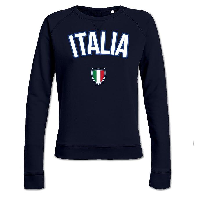 Sudadera de mujer ITALIA Flag Fan by Shirtcity: Amazon.es: Ropa y accesorios