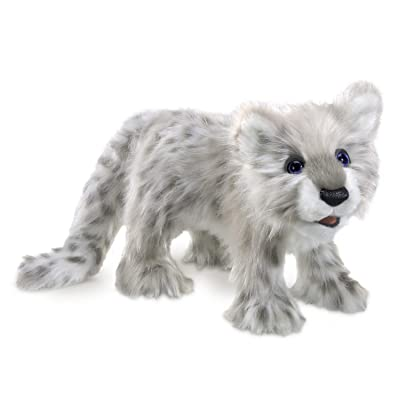 Folkmanis Snow Leopard Cub Hand Puppet: Toys & Games