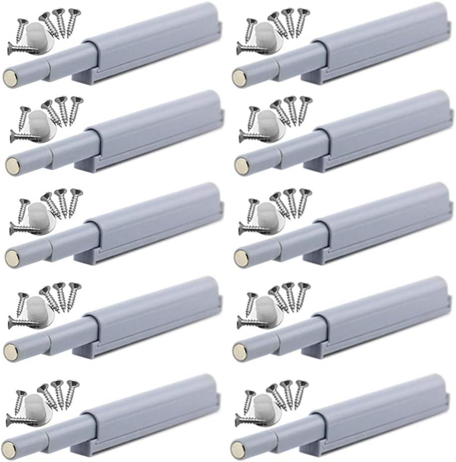 YUOIP® Cierre Magnético Captura Magnética Amortiguador para Abre y Cierra la Puerta con un solo empuje (10 piezas)