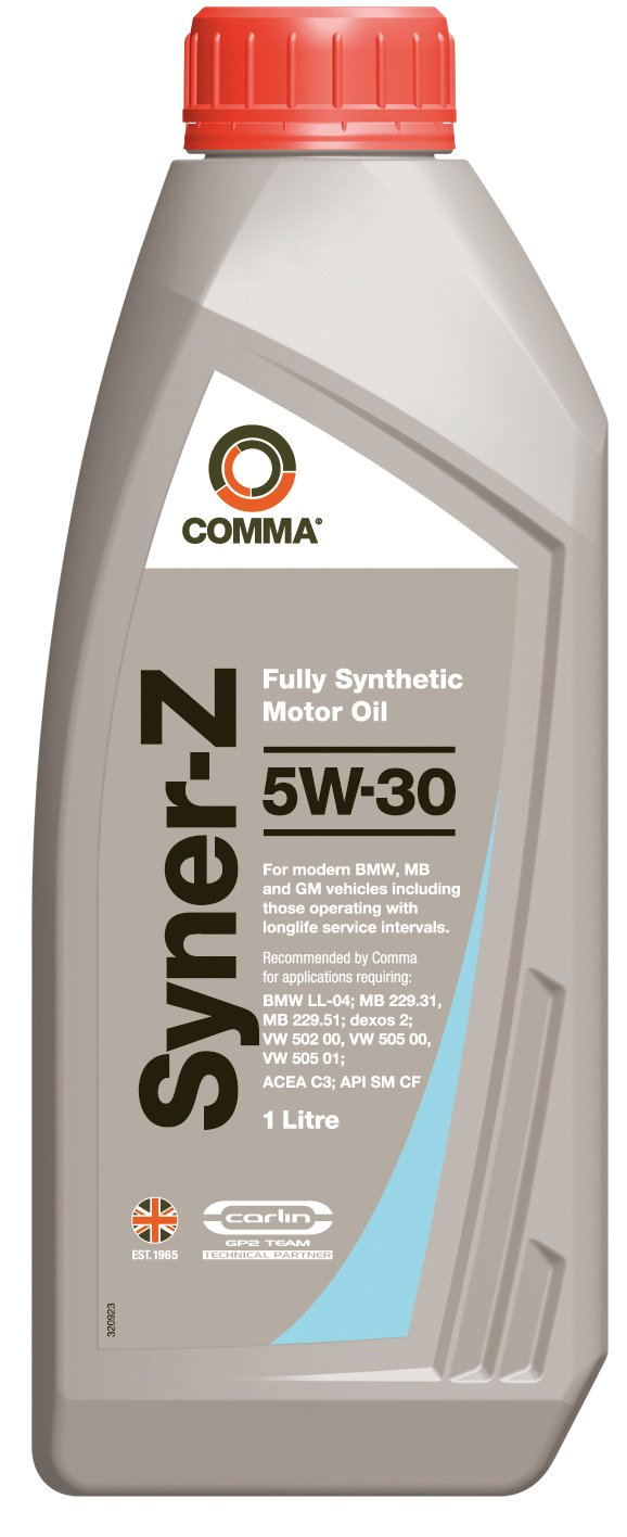 Comma SYZ1L 1L Syner-Z Fully Synthetic 5W30 Motor Oil Comma Oil & Chemicals Ltd.