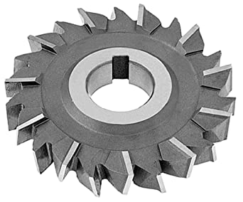 High Speed Steel F/&D Tool Company 11001-K114 Staggered Tooth Side Milling Cutter 3//4 Hole Size 3//16 Width of Face 2.125 Diameter