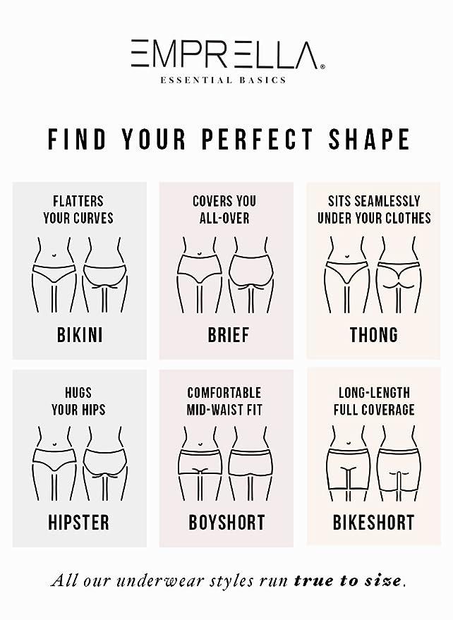 Emprella Cotton Underwear Women, Ropa Interior Femenina, 6 Womens Bikini Ladies Panties at Amazon Womens Clothing store: