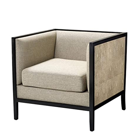 Amazon.com: Gray Cube Upholstered Armchair | Eichholtz ...