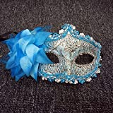 #4: FaceWood 11Color Gorgeous Masquerade Mask For Women,Handmade Lace Diamante Mask,Halloween Mask,Christmas Mask,Party Mask.