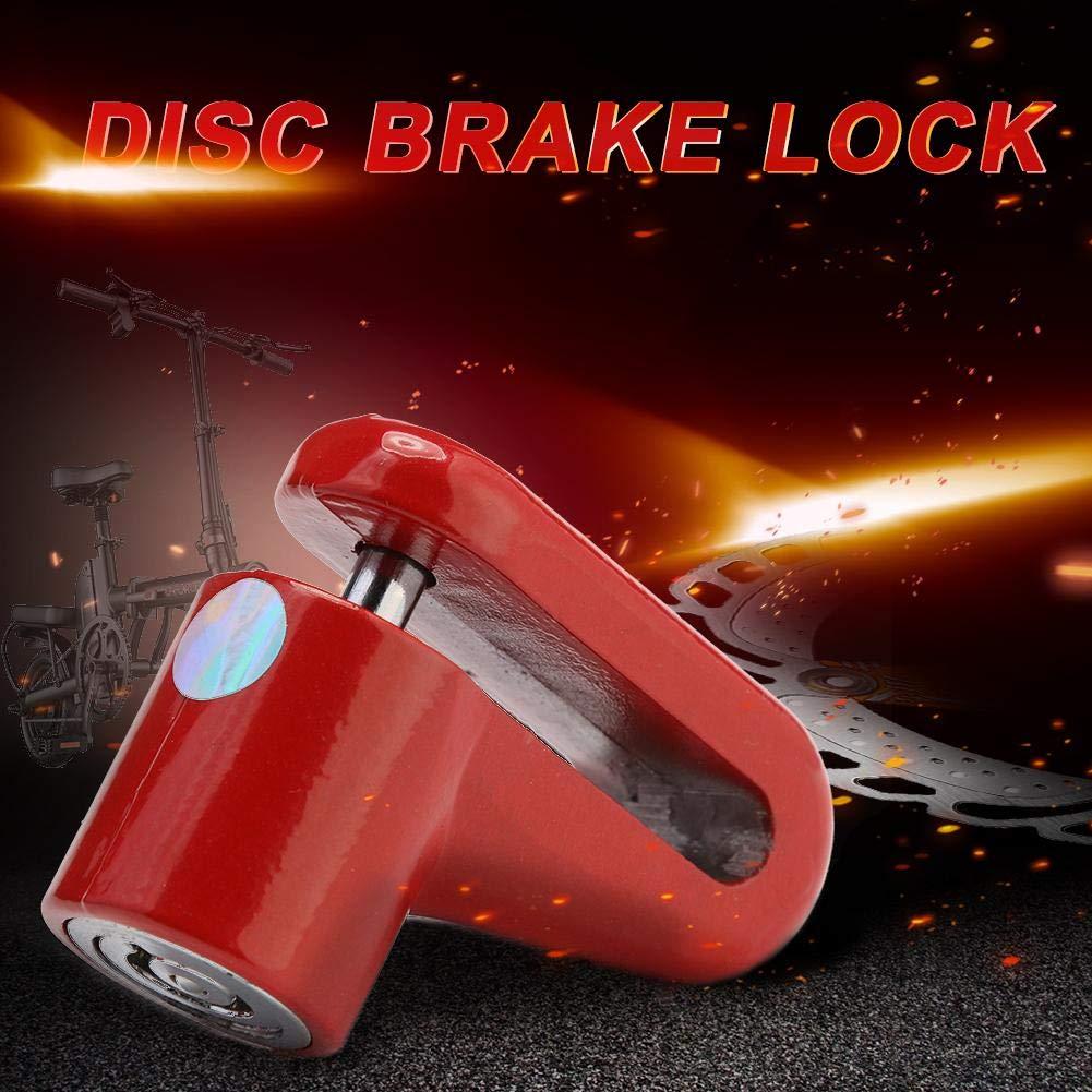 Demiawaking Bloccadisco per Moto Bici e Scooter Blocco Freno a Disco Antifurto per Scooter Elettrico M365 con Filo di Acciaio Nero