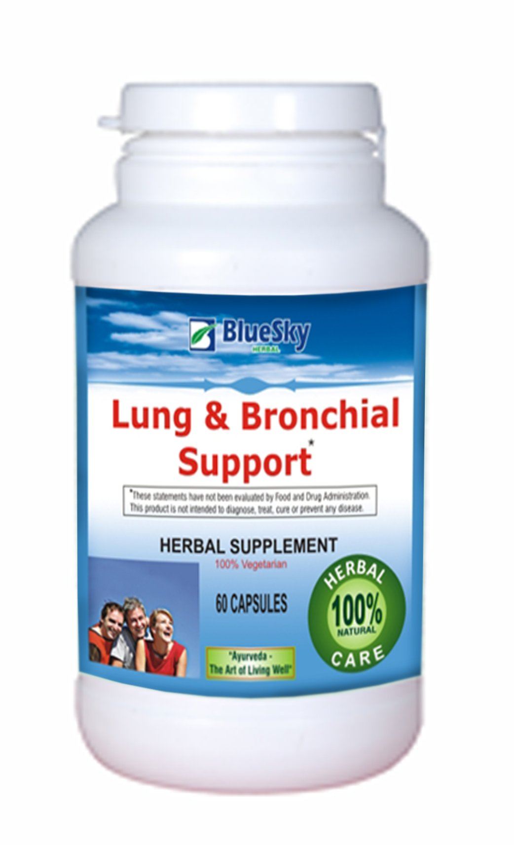 Blue Sky Herbal Asthma-aid -Ingredients - Piper betel,Calotropis prosere,Ocimum sanctum,Zingiber officinale Piper longum,Syzyguim aromaticum. Asthma is a chronic condition that affects an overwhelming 20 million Americans. Furthermore, statistics reveal t by Blue Sky