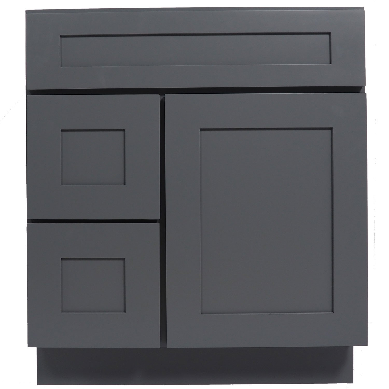 Everyday cabinets 30 inch bathroom vanity single sink for Gray 30 inch bathroom vanity
