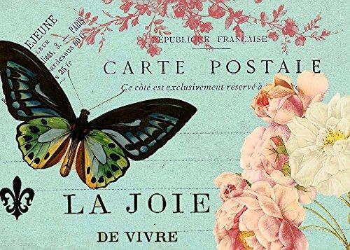 (Butterfly Postcard by Sandy Lloyd Art Print, 19 x 13 inches)