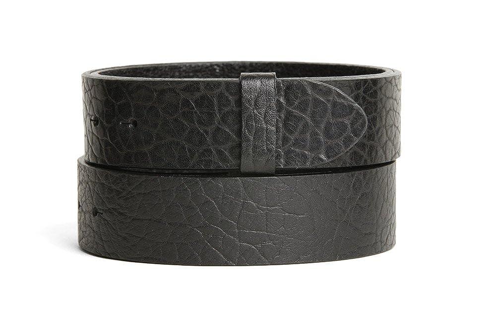 VaModa Belt, Cinturón en piel, modelo Doncaster, color negro, sin hebilla