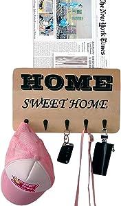 "Key Holder for Wall Entryway Key Rack Sweet Home Key Hook Whit 5 Hooks 13""x7.9"""