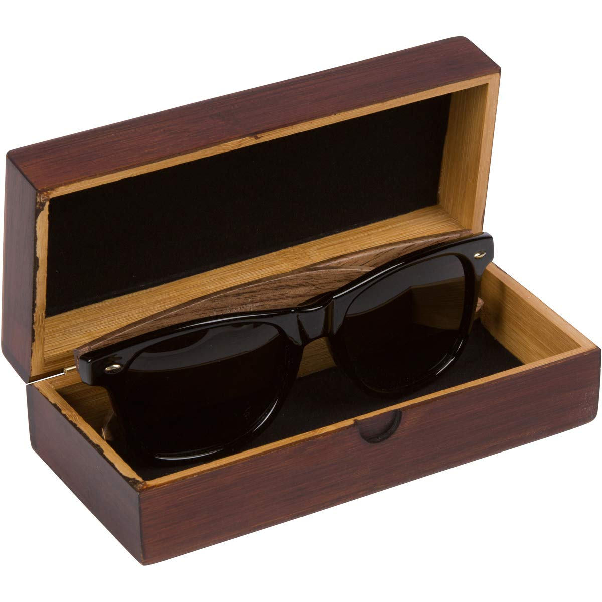 WOODIES Walnut Wood Wayfarer Sunglasses with Polarized Lens in Wood Display Box for Men or Women by Woodies (Image #7)