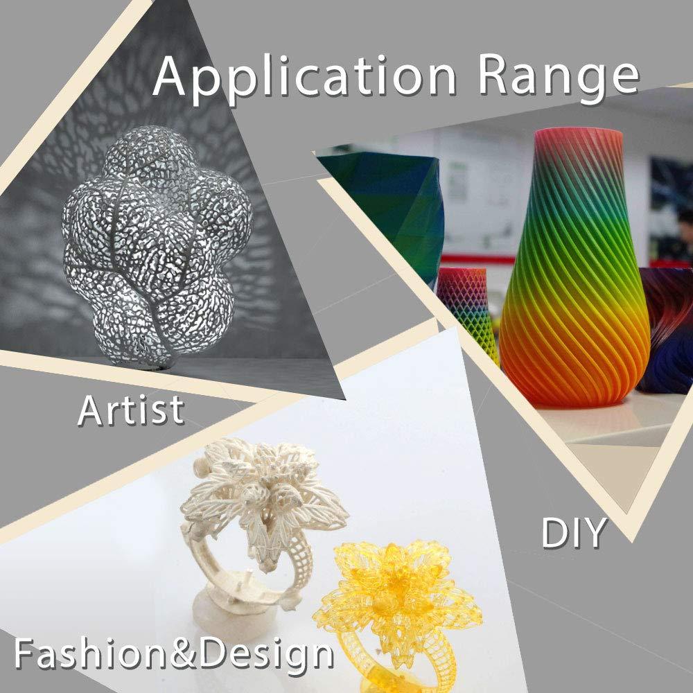 Filamento PLA verde para impresora 3D, precisión dimensional +/- 0 ...