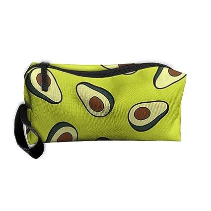 Avocado Pattern jpg Zippered Pencil Case, Makeup Bag