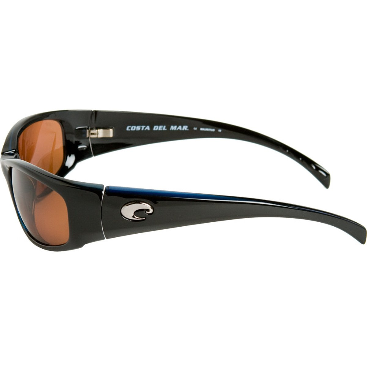 89d44acc4da Amazon.com  Costa Del Mar Sunglasses - Hammerhead- Glass   Frame  Shiny  Black Lens  Polarized Silver Mirror Wave 580 Glass  Clothing