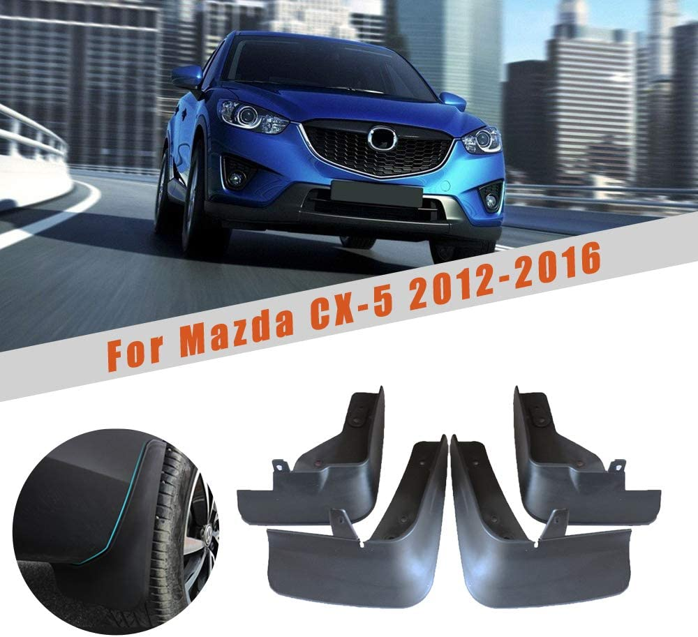 Upgraded Car Mud Flaps Mudguards for MAZDA CX-5 2012-2016 Front Rear Splash Guards Car Fender Styling /& Body Fittings Black 4Pcs