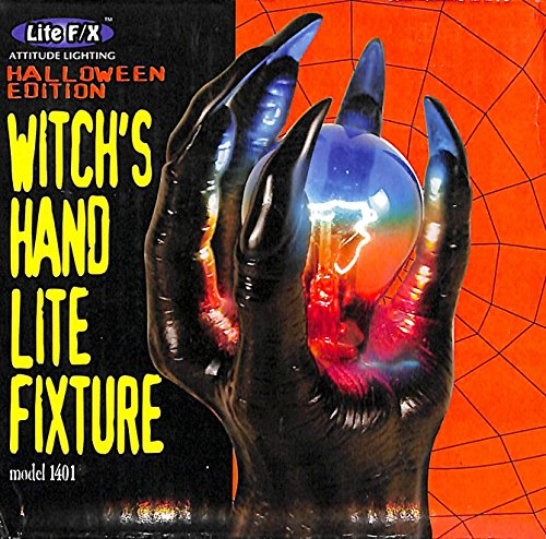 (Creepy Witch's Hand Light Fixture by Lite F/X, Halloween)