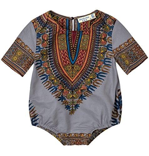 Shenbolen Kids African Dashiki Print Jumpsuits Piece Pants - African The Boy