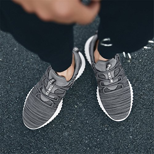 Men's Grey Sports Running Fitness Lightweight Sneakers Fashion Gym Breathable Shoes H Walking Casual UBFEN Athletic Trainers a1nxZgwxd