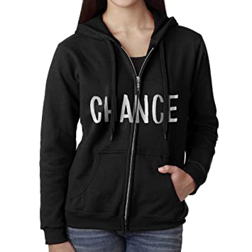 Briya Casual Womens Full Zip Chance The Rapper Coloring Book Hoodie With Pouch Pocket X
