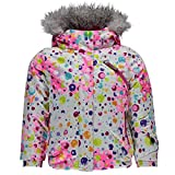 Spyder Girls Bitsy Lola Jacket, Size 4, Party Multi Print/Bryte Bubblegum